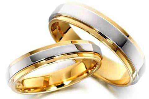 Платина і жовте золото обручка фото 1 d263338cda65f